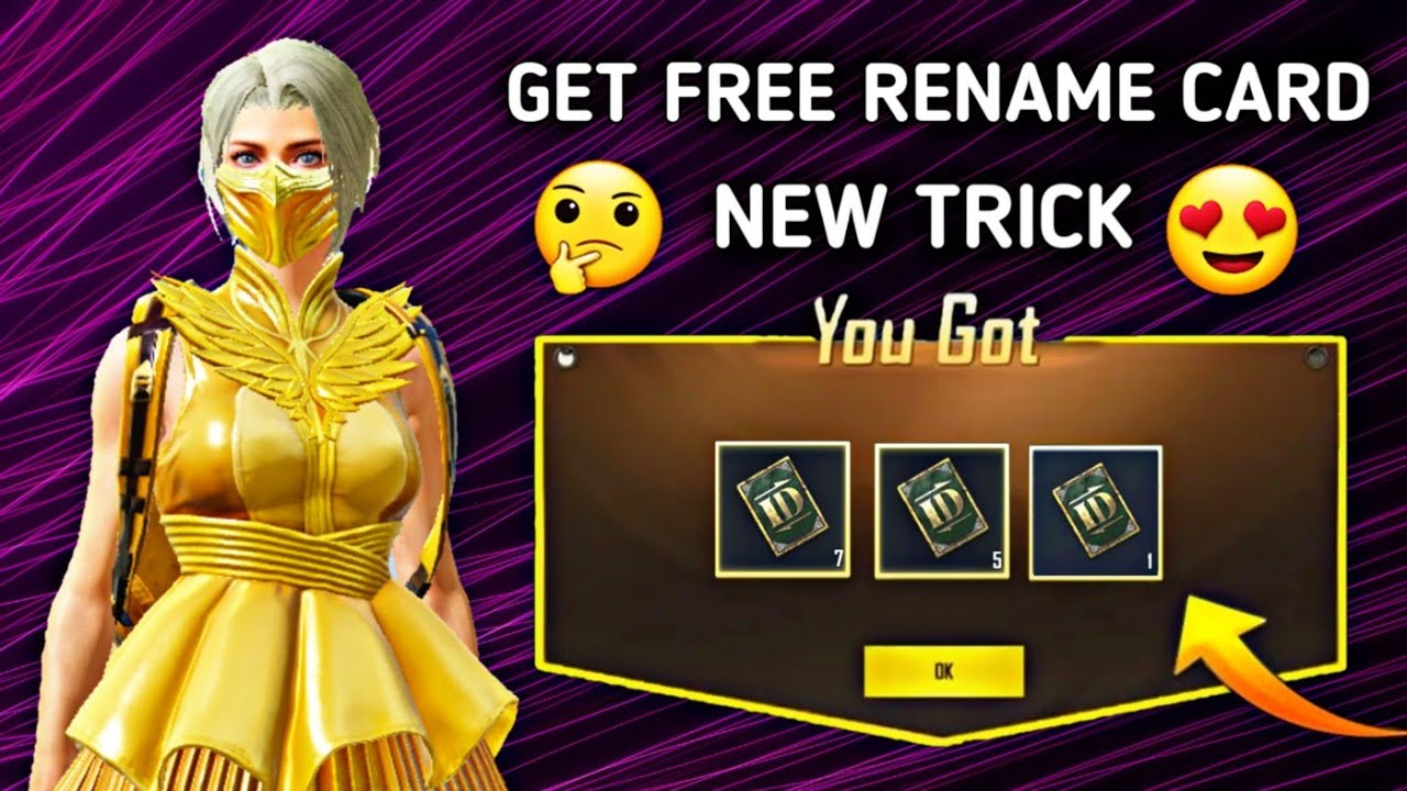 How To GET FREE RENAME CARD IN PUBG MOBILE !! FREE RENAME CARD SEASON 14 Secret Trick