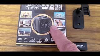 Sir Gawain G007 Action Mini Camera! SUPER SPY CAMERA!