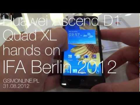Huawei Ascend D1 Quad XL hands on IFA Berlin 2012