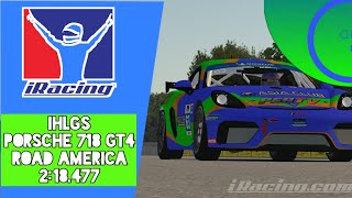 iRacing Hot Lap Guided Series | Porsche 718 GT4 at Road America |Setup Download + Track Guide| IHLGS