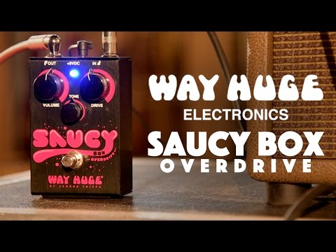 Way Huge Saucy Box Overdrive Pedal Demo played by Ryan Wariner