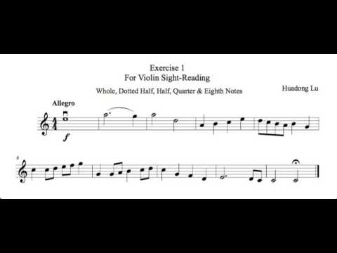 Sight-reading Exercise 1 for violin