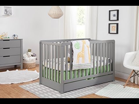 Carter's By DaVinci Colby 4-in-1 Convertible Crib with Trundle Drawer, Grey