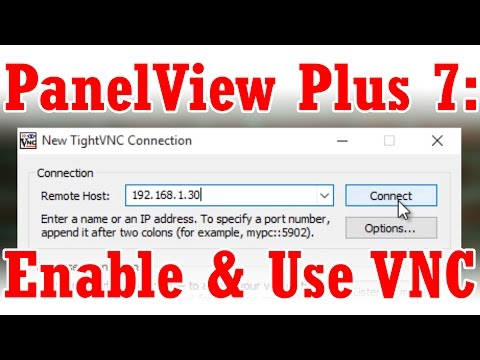 Enable and Use VNC on the PanelView Plus 7