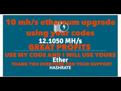 GENESIS MINING 10MH/S ETHEREUM UPGRADE USING YOUR CODES. USE MY CODE AND WILL USE YOURS.