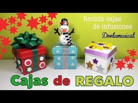 Cajas de regalo originales manualidades f ciles de navidad - Manualidades infantiles para navidad ...