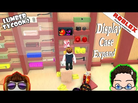 Roblox - Lumber Tycoon 2 - Case Expansion and Items Shelves.