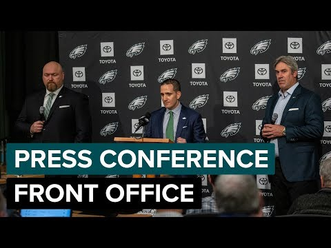 Eagles Front Office Discuss Andre Dillard Selection | Eagles Press Conference