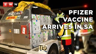The first batch of Pfizer vaccines arrived in South Africa in the late evening of 2 May 2021.   #Pfizer #vaccines #covid19news