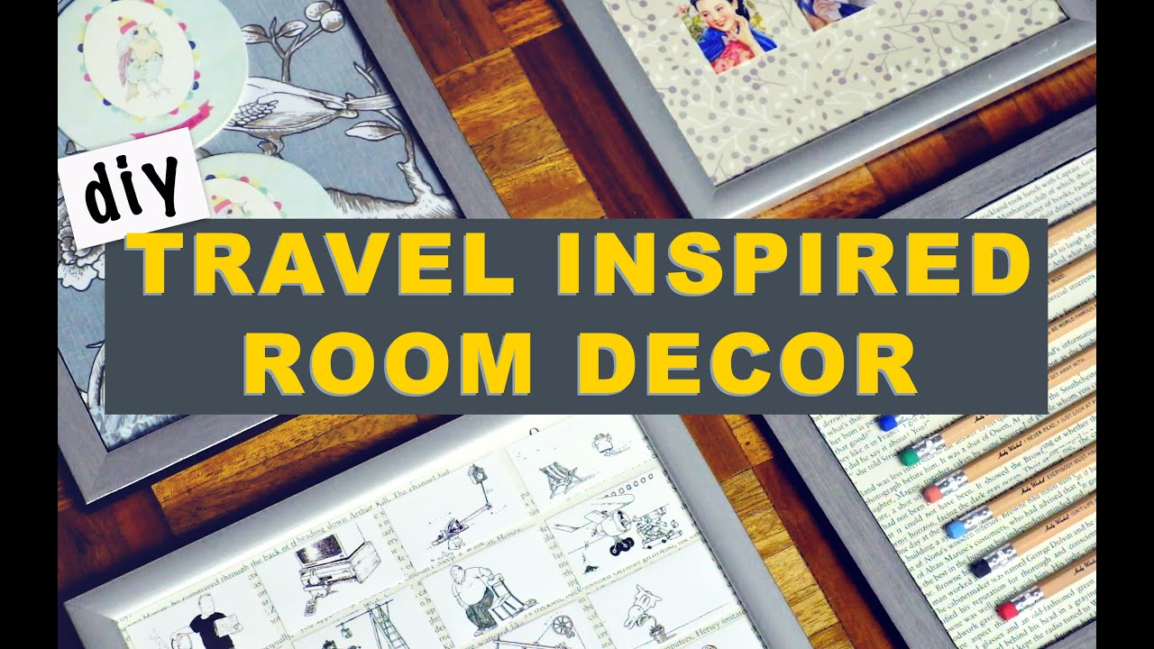 Travel Inspired Room Decor | DIY Room Decor | DIY Gallery Wall   YouTube
