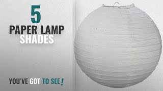 "Top 10 Paper Lamp Shades [2018 ]: Science Purchase 12"" White Paper Lantern Lamp Shades 12 Pack"