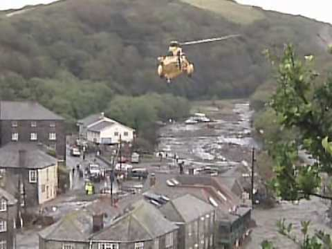 Boscastle Floods Footage from the BBC