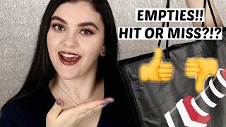 BEAUTY EMPTIES! Hit or Miss?!? August 2017