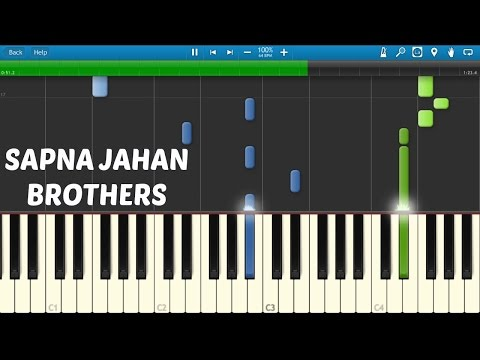 Sapna Jahan - Brothers (PIANO TUTORIAL)