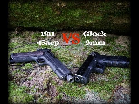 1911 vs Glock, 45acp vs 9mm, what NOBODY will tell you