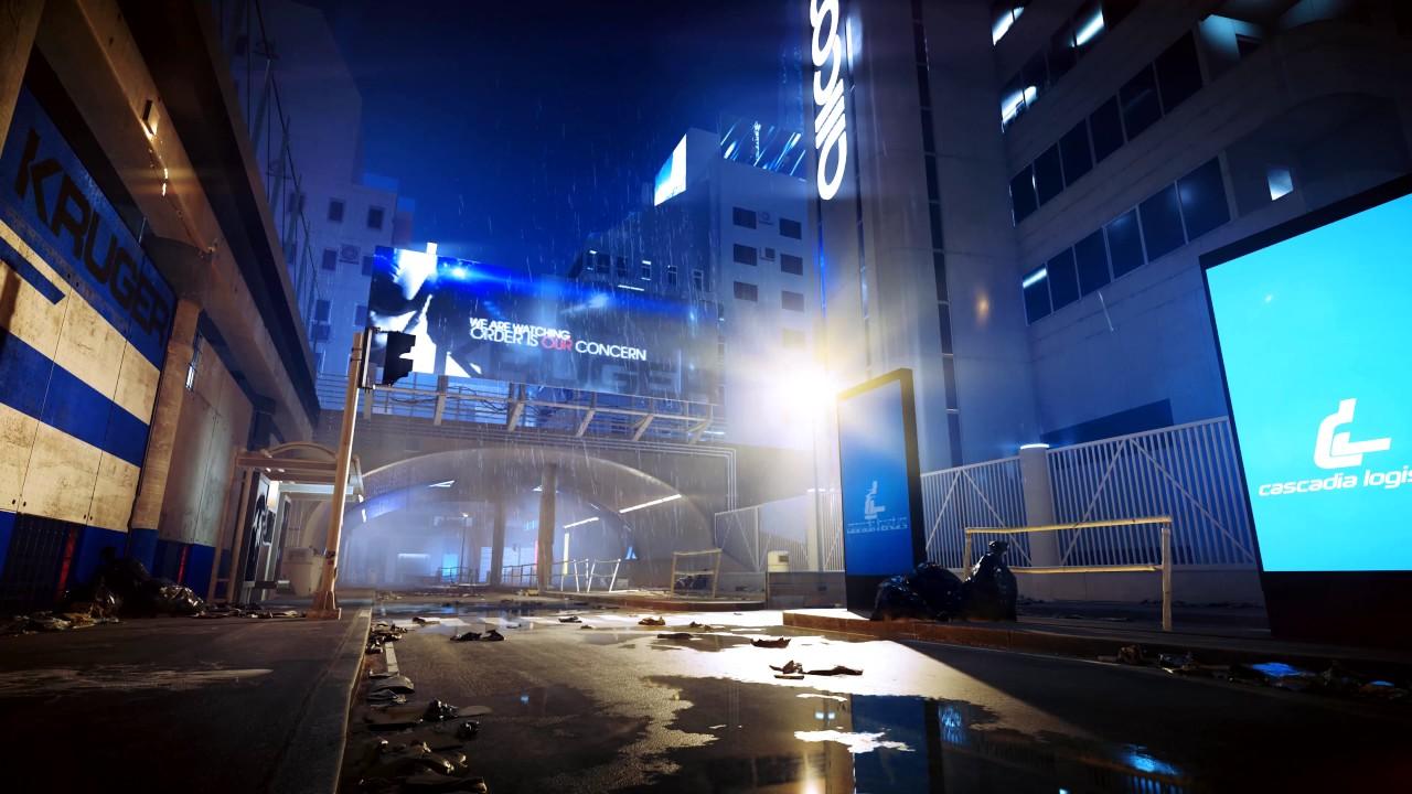 City Ambience Rainfall At Night Mirror S Edge Catalyst 4k