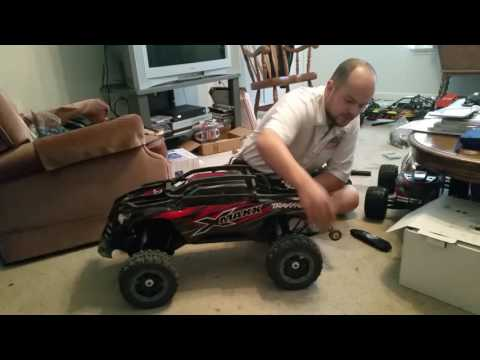Traxxas X-maxx with Castle power and lots of upgrades.