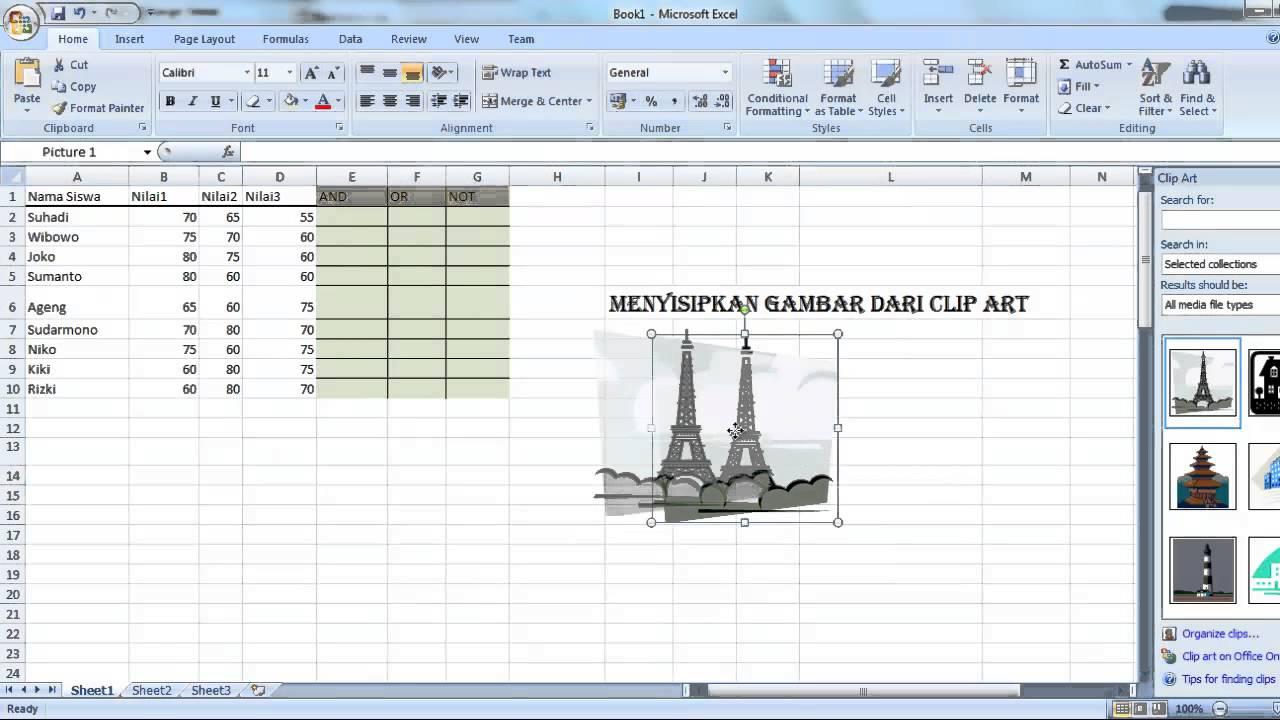 cara menyisipkan clipart pada microsoft word 2007 - photo #14