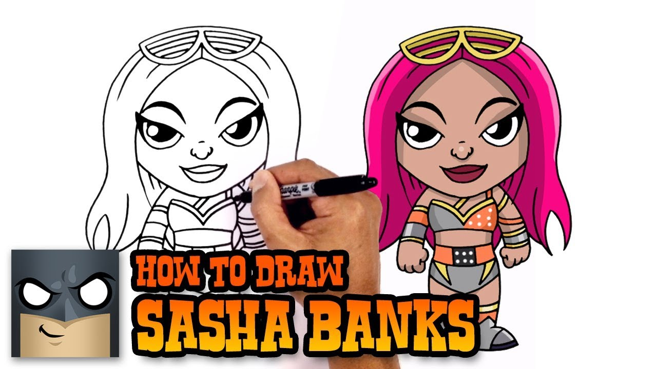 How To Draw Sasha Banks Wwe Superstars