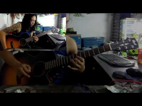 scared of bums damai guitar cover collage