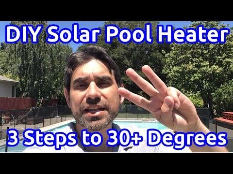 DIY Solar Pool Heater 30 Degrees Temperature Increase in 3 Steps
