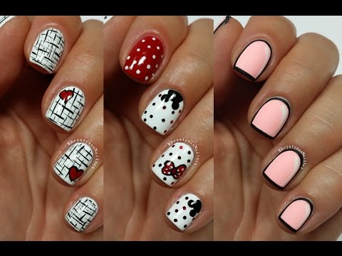 3 Easy Nail Art Designs for Short Nails Freehand #5