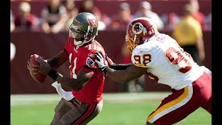 Josh Johnson playing against his new team || Redskins Vs Buccaneers