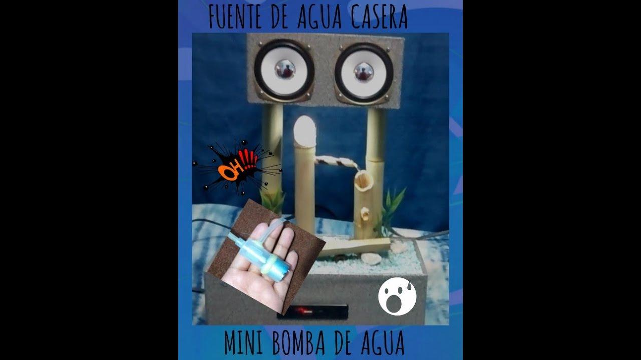 Mini Bomba de Agua Casera para Fuente - YouTube