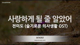 Gambar cover [짱가라오케/노래방] 전미도(Jeon Mi Do)-사랑하게 될 줄 알았어((I Knew I Love) (슬기로운 의사생활 OST) [ZZangKARAOKE]