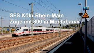 ICE´s mit 300 km/h durch Montabaur