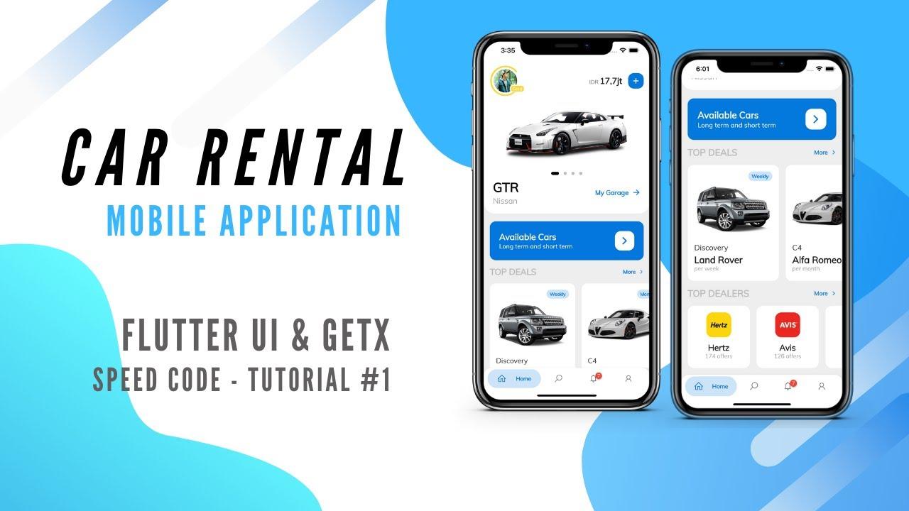 Car Rental App - Flutter UI by GetX (Speed Code #1 - Part 1)
