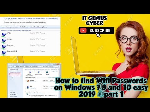 How To Find Wifi Passwords Of Any Network On Windows 10, 8 And 7 Easily 2019 #part 1