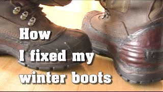 How I Fixed My Winter Boots