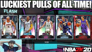 THE GREATEST AND LUCKIEST PACK OPENING WITH THE *NEW* FLASH PACKS IN NBA 2K20 MYTEAM