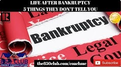 Life After Bankruptcy: 5 Things They Don't Tell You - Budget,MYFICO,No Credit,Car Buying