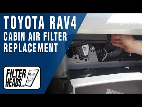 How To Replace Cabin Air Filter 2008 Toyota RAV4