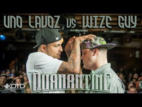KOTD - Rap Battle - Uno Lavoz vs Wize Guy
