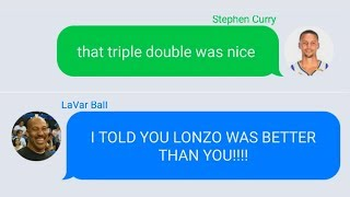 Stephen Curry Texting Lonzo Ball and Lavar Ball