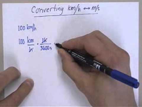 Converting Km Per Hour To M Per Sec