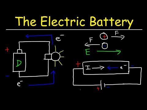The Electric Battery and Conventional Current - Introduction to Basic Electricity