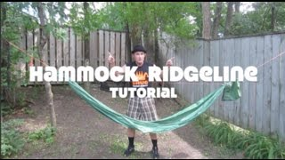 Hammock Ridgeline Tutorial