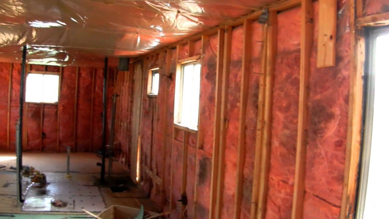 Fix Up Old Trailer YouTube - Single wide trailer bathroom remodel