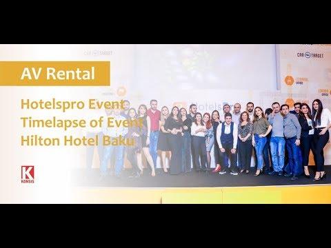 AV Rental for Hotels Pro at Hilton Baku