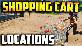 WHERE TO FIND SHOPPING CARTS in FORTNITE! (Fortnite Shopping Cart All Locations) + How To Drive