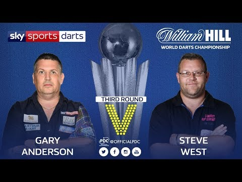 2018 World Darts Championship Round 3 G.Anderson vs West