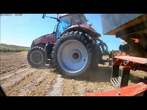 2017 planting corn with a Case IH 235 - GoPro clone AKASO EK7000 filming