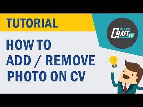 CV / Resume Builder - Add / Remove Photo - Tutorial