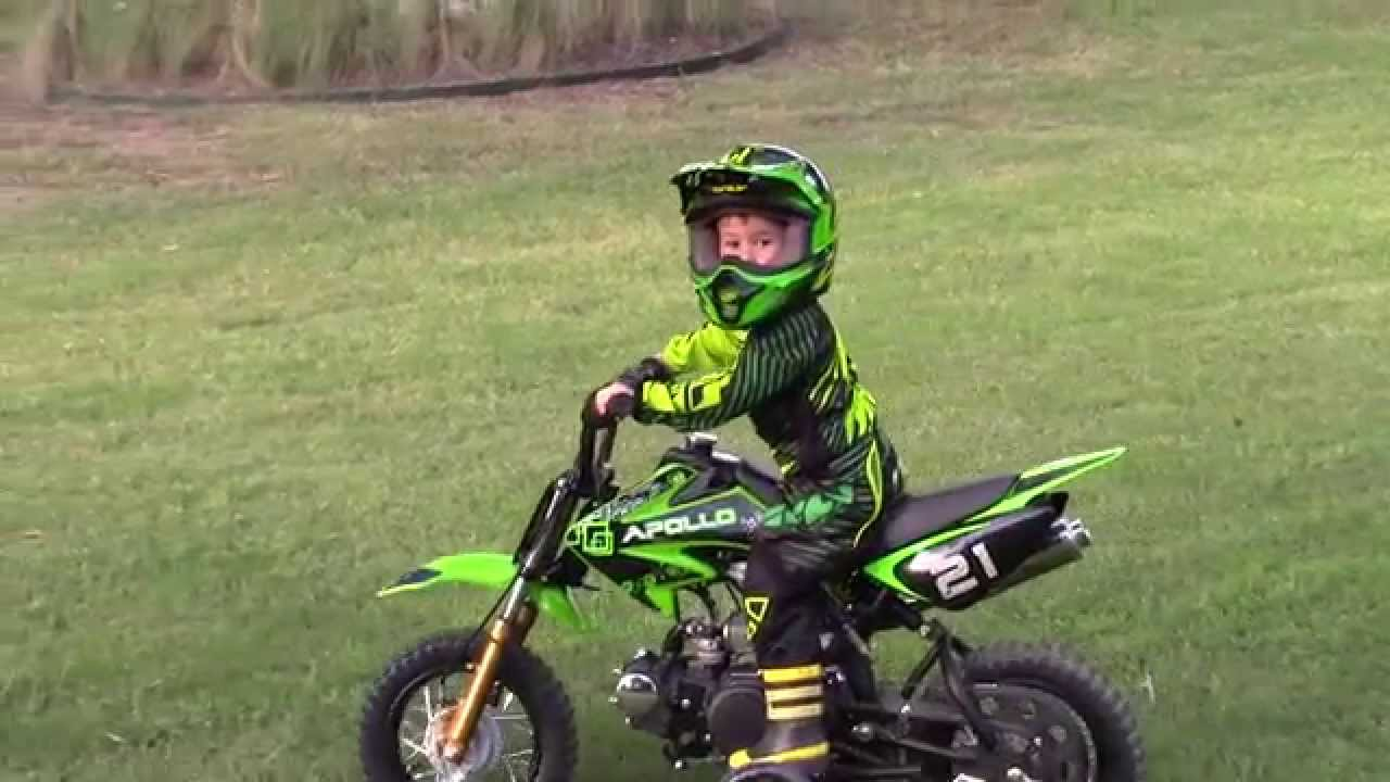 Kids Dirt Bike With Training Wheels Youtube