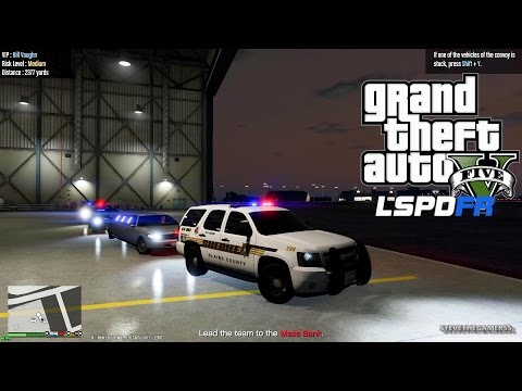 GTA 5 LSPDFR EPiSODE 122 - LET'S BE COPS - PROTECTION SQUAD PATROL (GTA 5 PC POLICE MODS) TAHOE