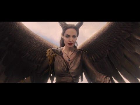 Maleficent Angelina Jolie Flies Through The Clouds